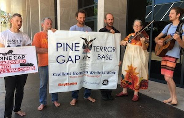 6 Pine Gap Pilgrims by Kieran Finnane