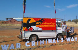 Peace Bus - War Criminals Way - Pine Gap