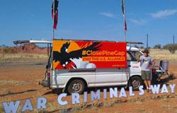 Peace Bus - War Criminals Way - Pine Gap