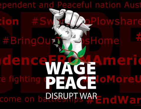Wage Peace banner