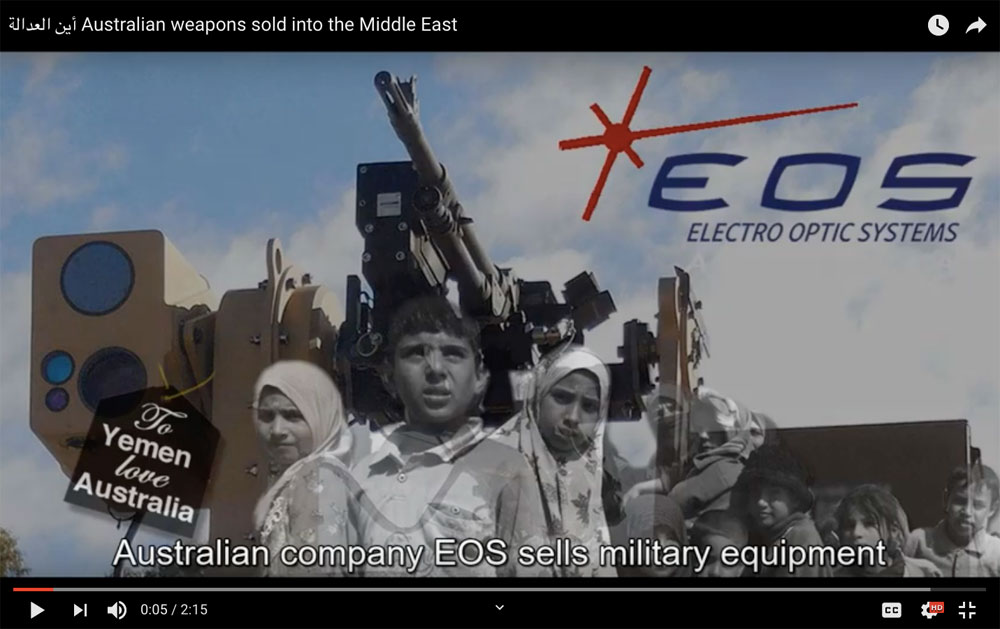 أين العدالة Australian weapons sold into the Middle East