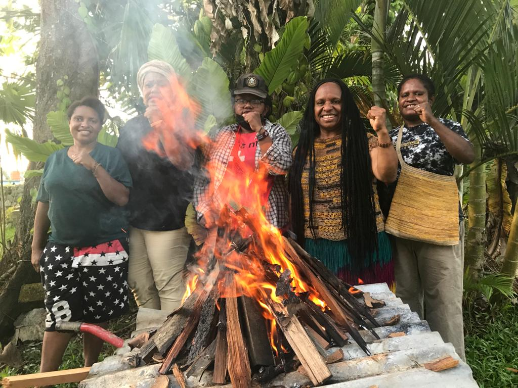 West Papua solidarity fire