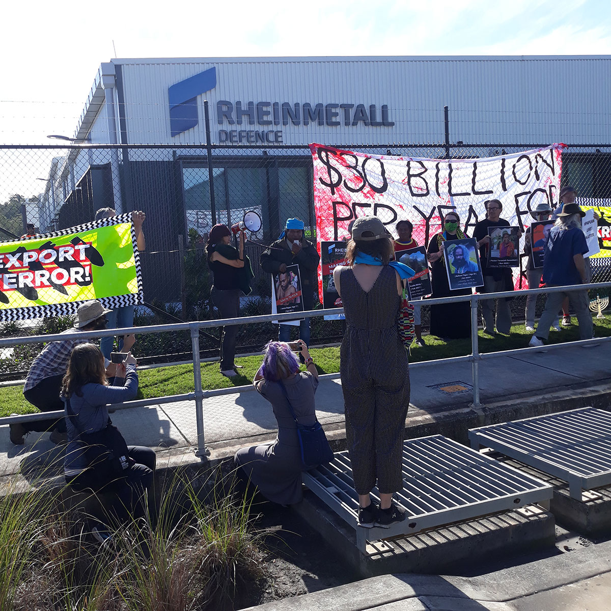 Rheinmetall protest