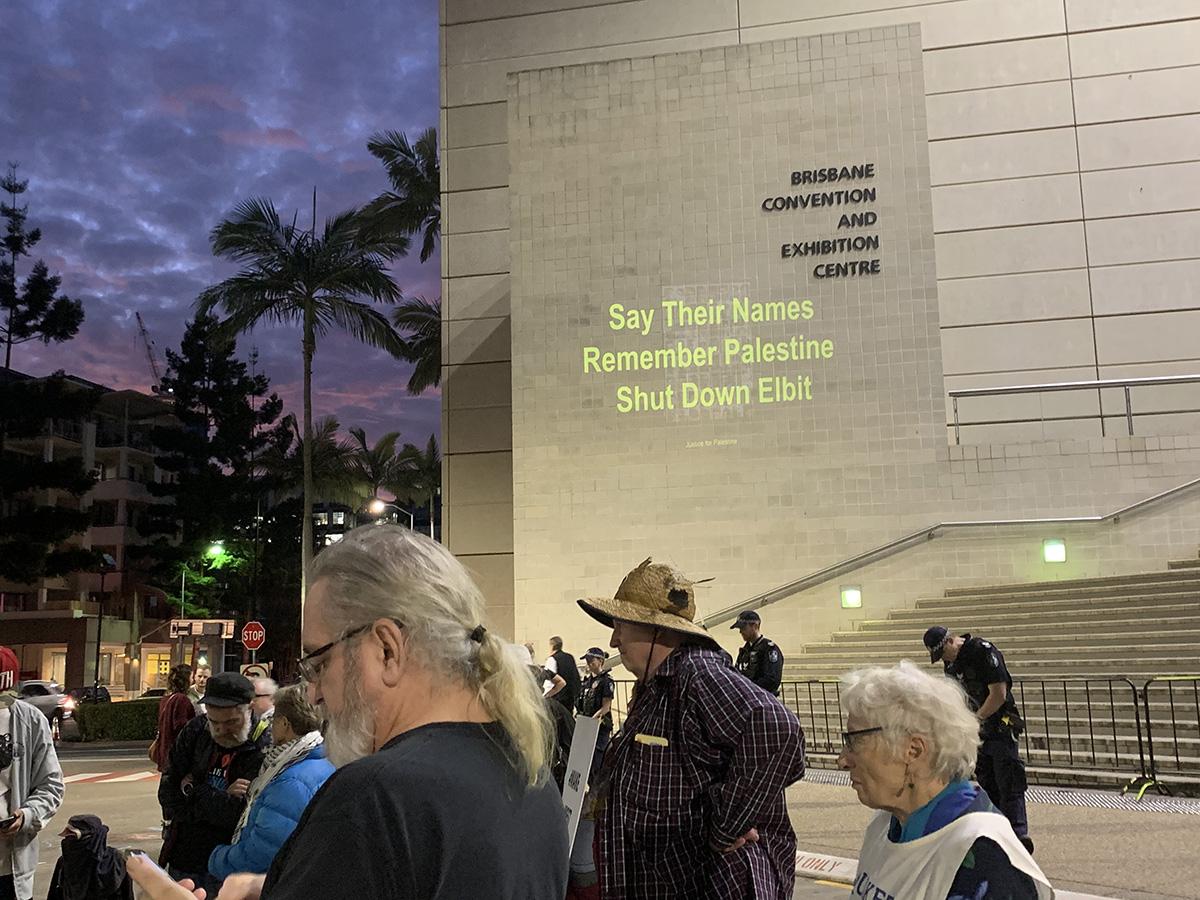 Palestine vigil say their names