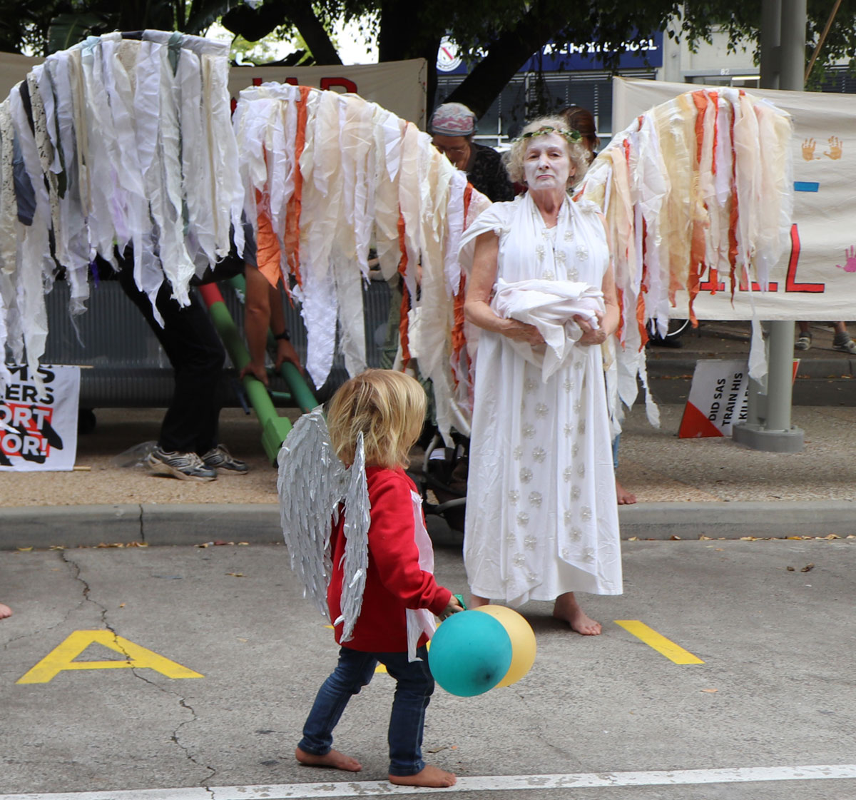 Climate Angel and child