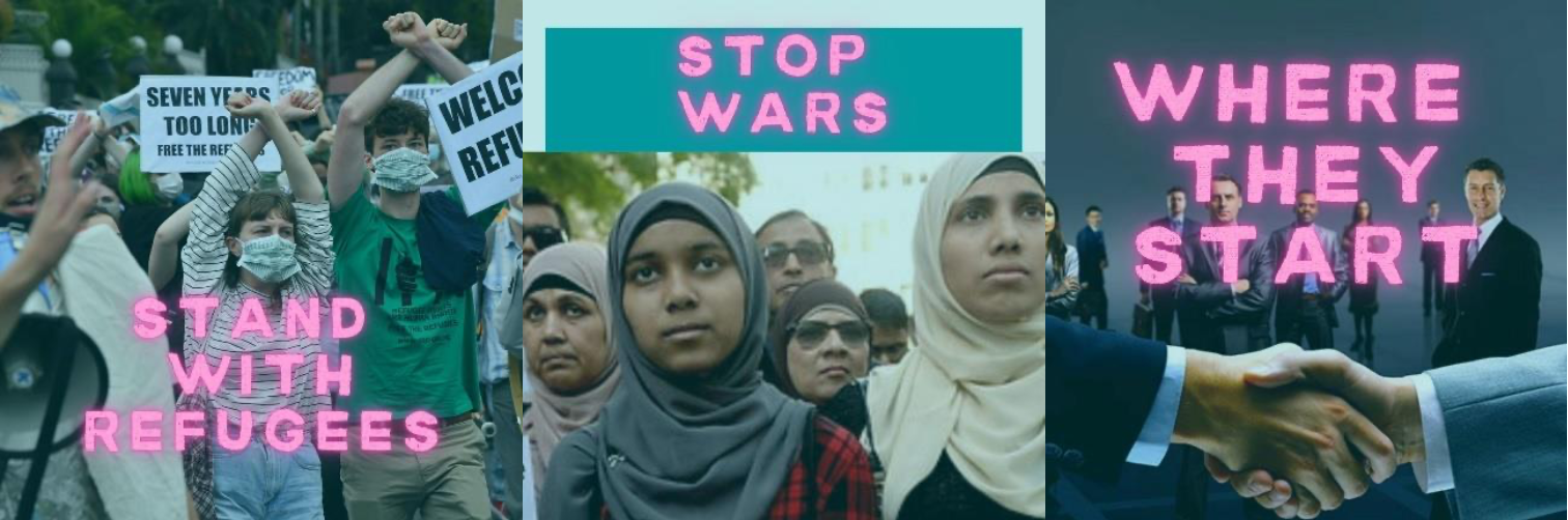stop wars where they start - for refugees