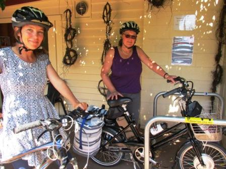 Jess_and_Di_park_bikes_at_HWHC_thumb.JPG