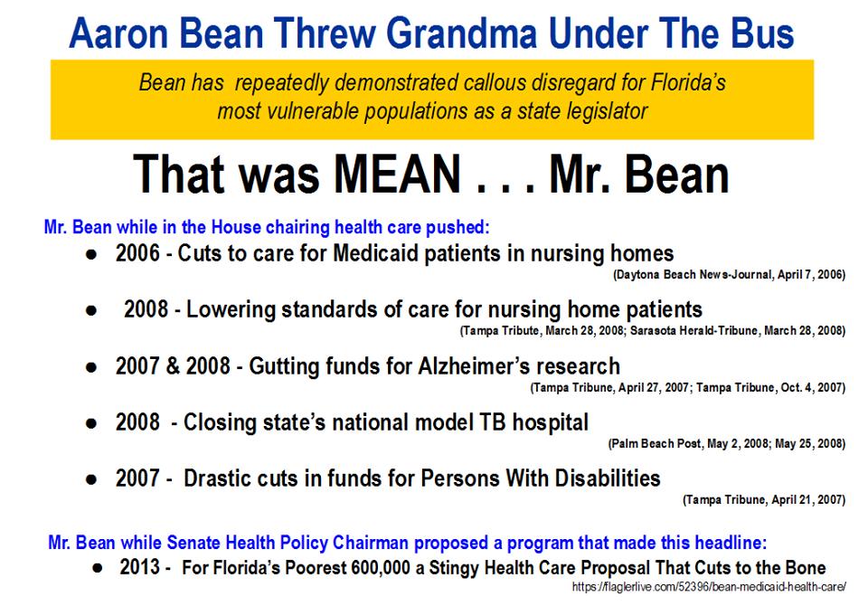 Aaron Bean Throws Grandma Under The Bus