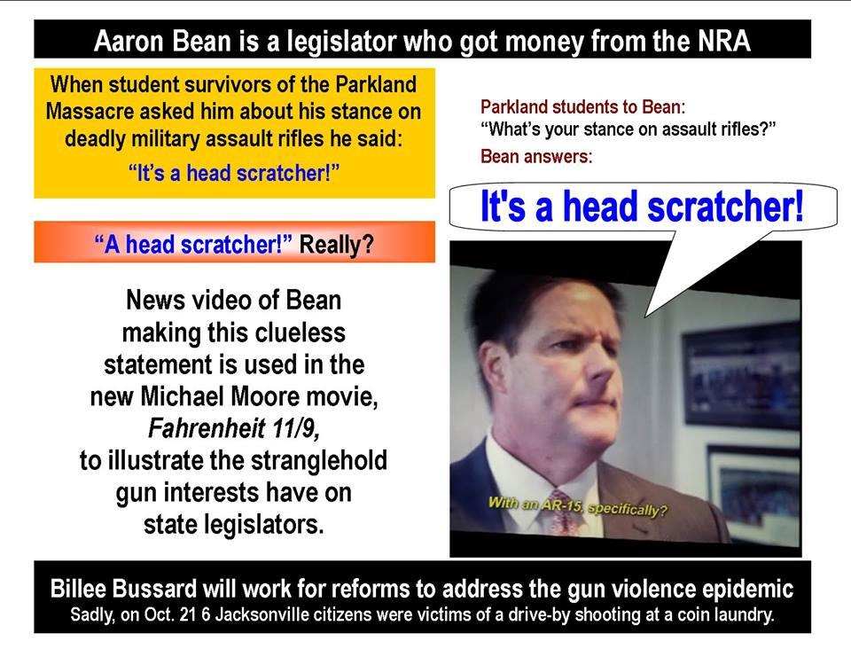 Aaron Bean got money from NRA
