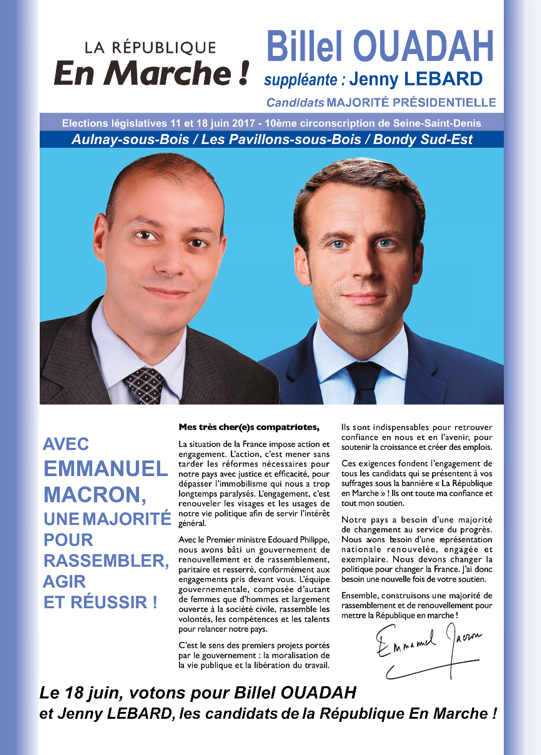 Tracts de campagne - image  on http://www.billelouadah.fr