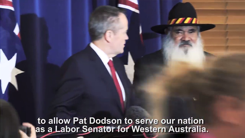 ICYMI: This morning I announced my support for Pat Dodson joining Labor's team in the Senate