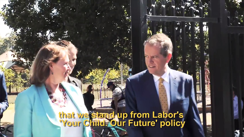 Your Child Our Future: Bill Shorten's Policy Announcement
