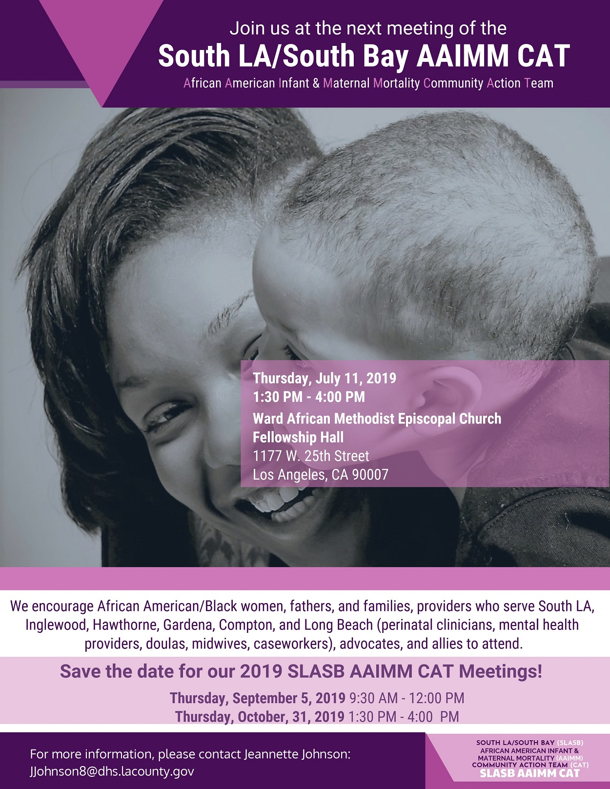 South LA/South Bay AAIMM CAT Meeting - Black Infants and