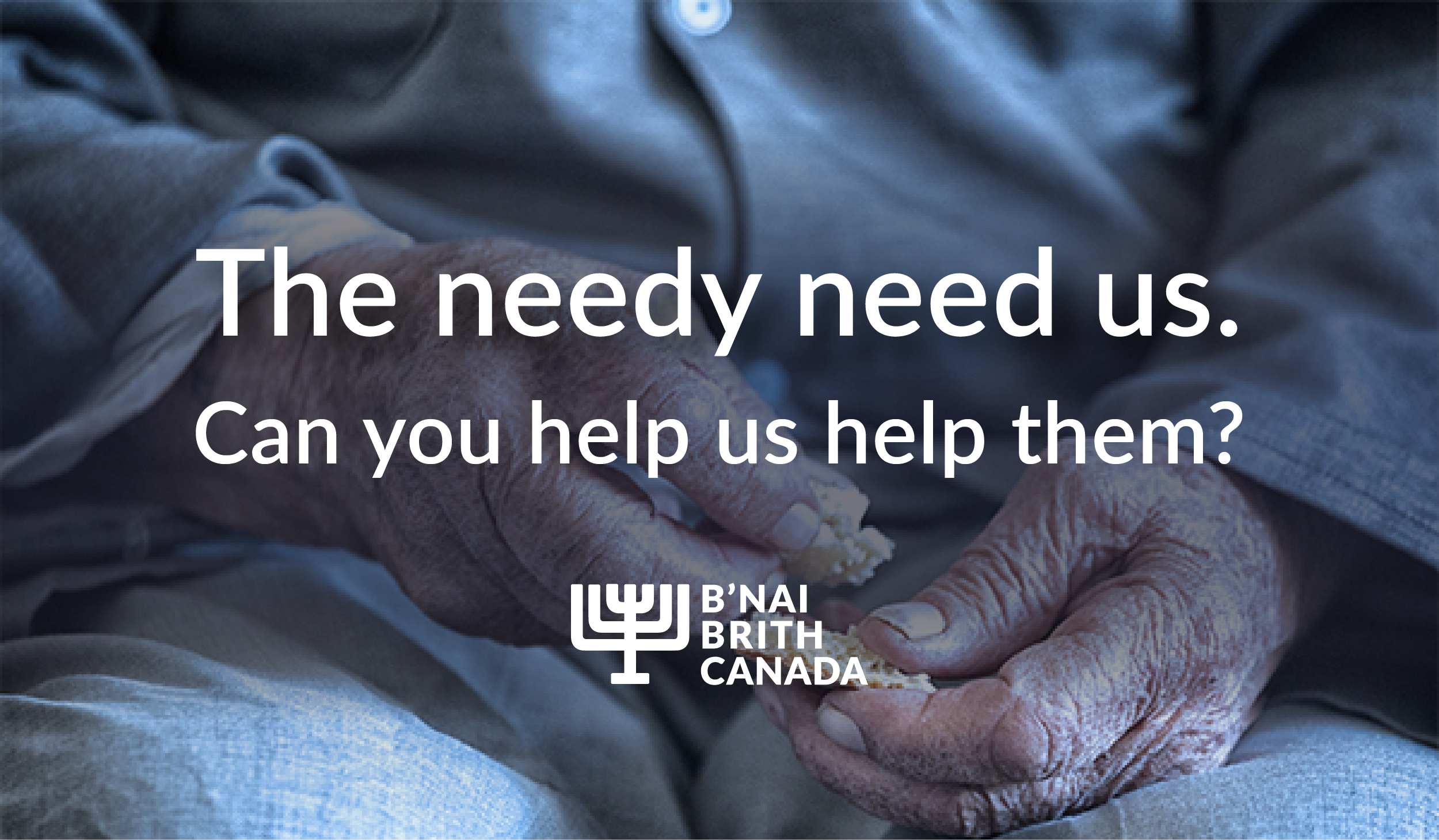The needy need us. Can you help us help them?