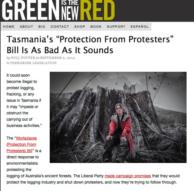 "Tasmania's ""protection from protesters"" bill as bad as it sounds"