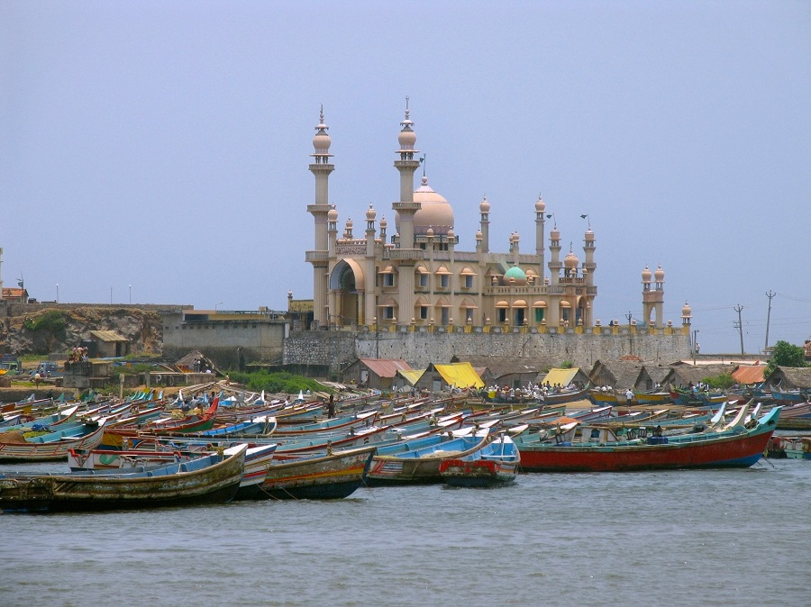 The fishing harbour of Vizhinjam, next to one of Adani's massive proposed port expansions