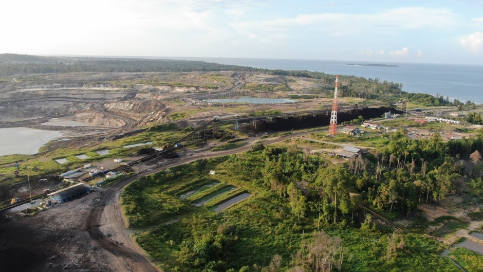 Part of Adani's coal mining-and-export operation on the island Bunyu, North Kalimantan. Photos above courtesy JATAM.