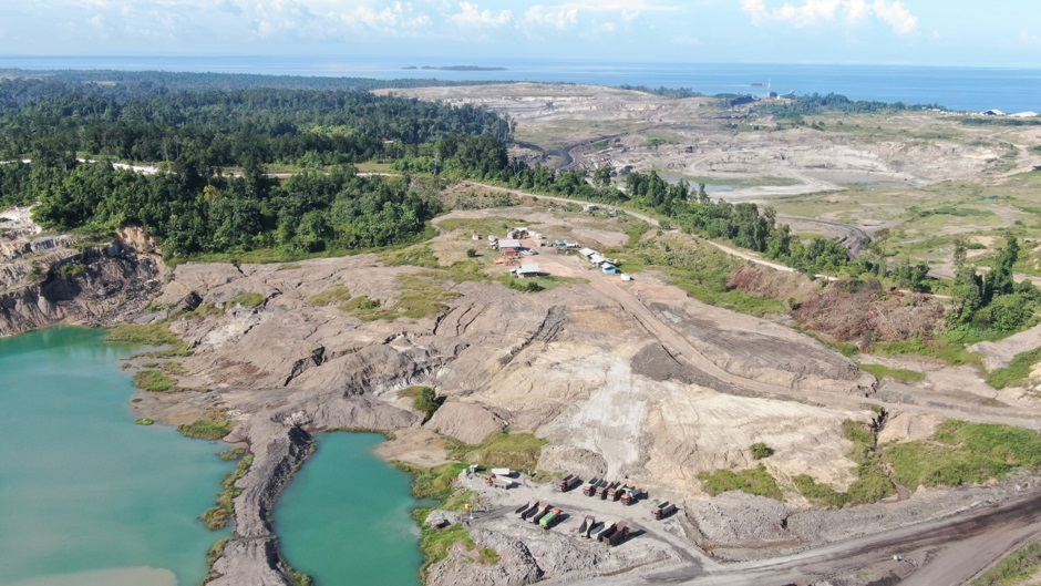 Adani's mining operation has impinged on local agricultural lands and public forests on Bunyu. Photo courtesy JATAM.