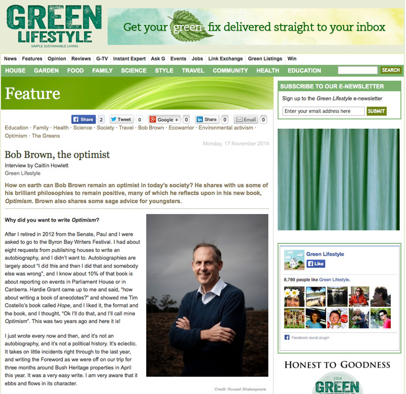 Green Lifestyle Screenshot