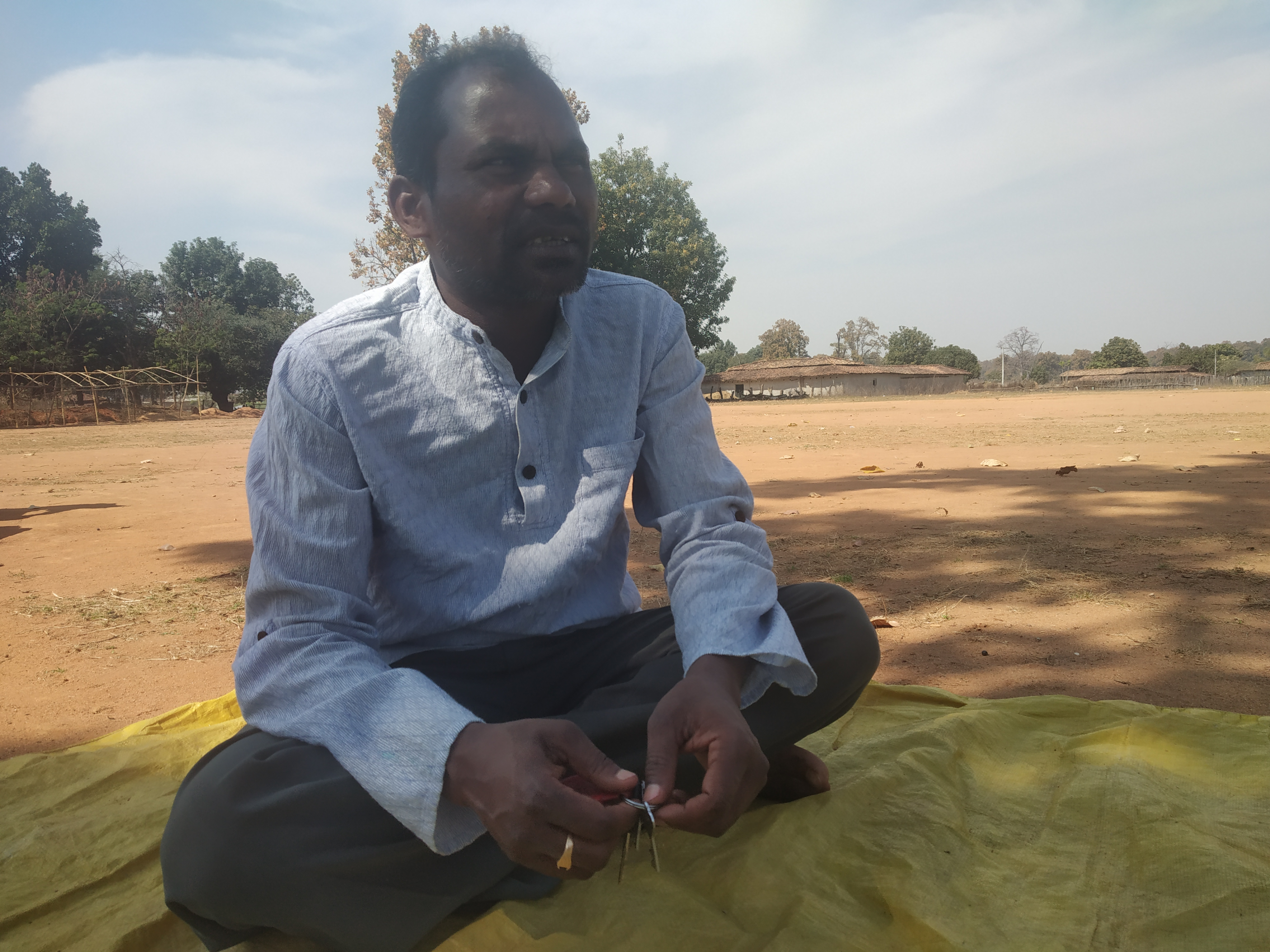 Jayanandan Singh Porte, co-convenor of the Committee for the Struggle to Save the Hasdeo Forest. Photo Abir Dasgupta