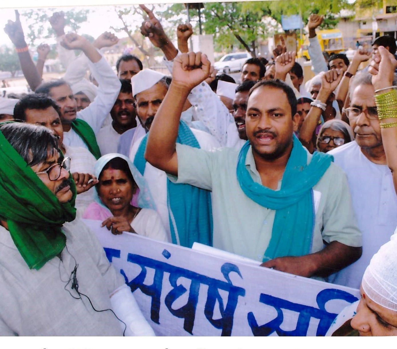 Protesters against Adani's Pench power plans in Chhindwara, 2010. Image courtesy KSS