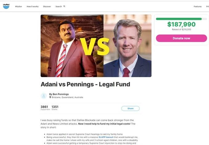 Ben Pennings's crowd-funder (see link in story)
