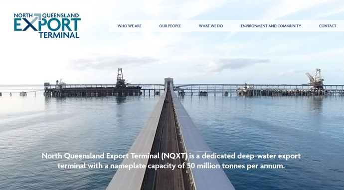 Website for Adani's re-named Abbot Point coal port