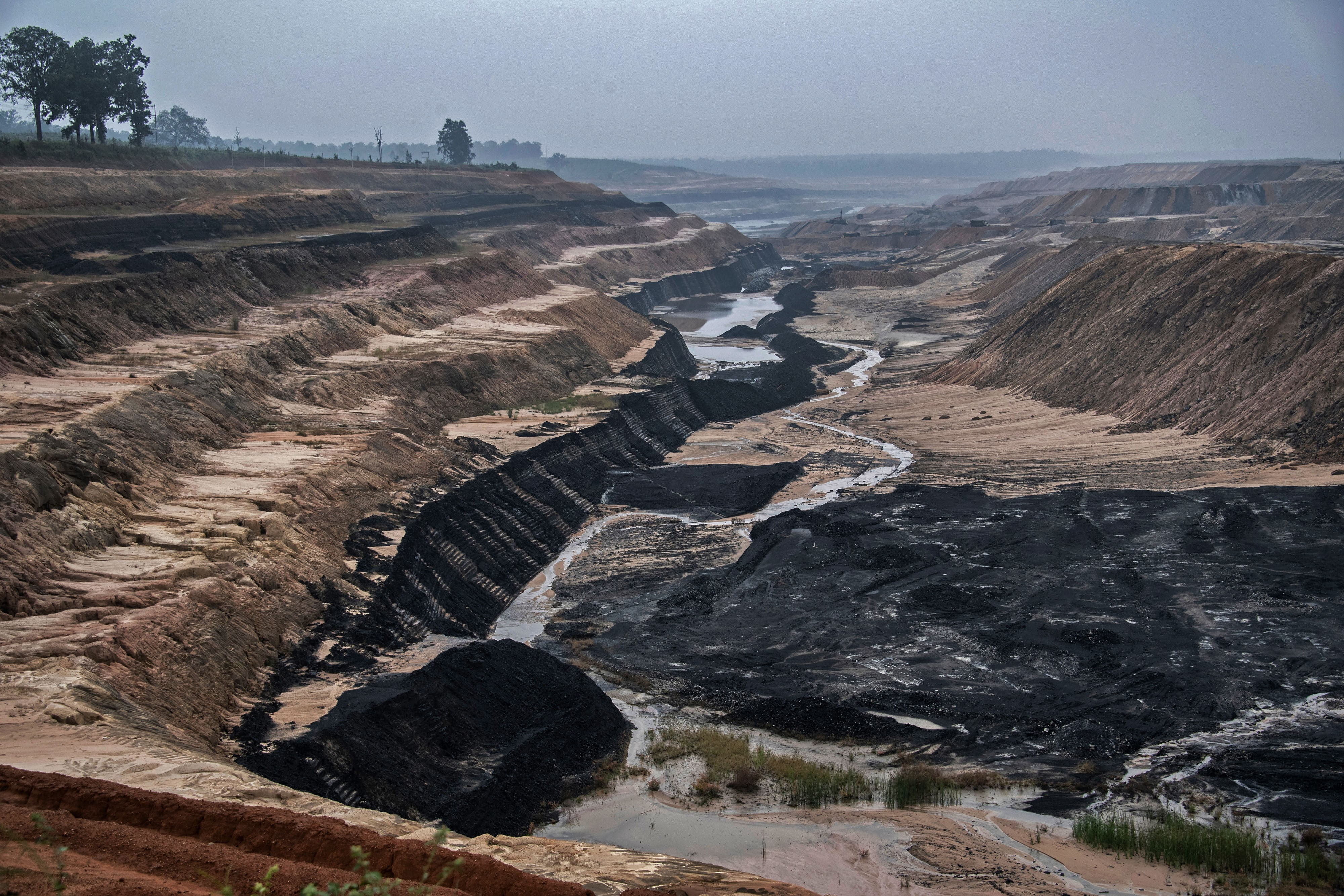 The existing PEKB coal mine in the Hasdeo Aranya forests. Adani is the MDO (mine developer and operator). Photo by Brian Cassey, www.briancasseyphotographer.com