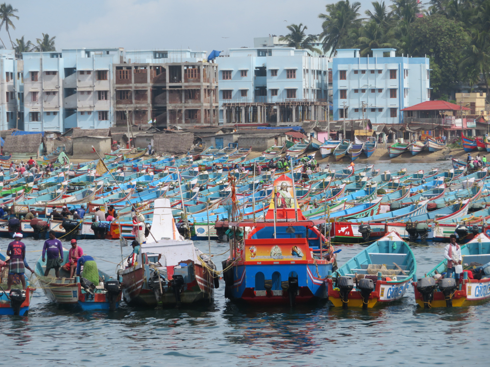 Fishing boats in Vizhinjam Harbour