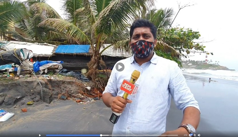 'India Today' reports from Kovalam Beach, July 2020.