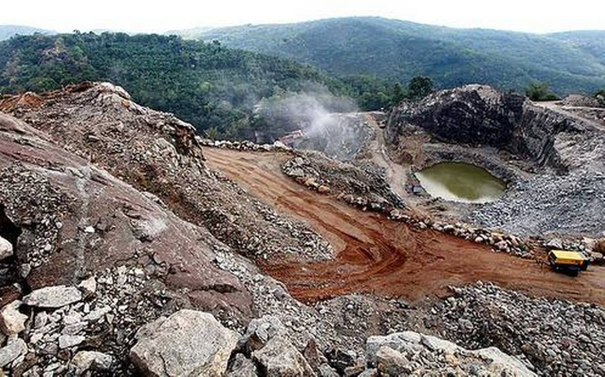 Quarry inland from Vizhinjam. Courtesy The Hindu