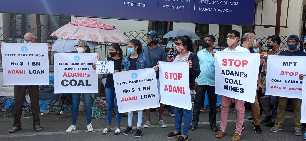 Goa protesters tell State Bank of India to reject loan for Adani's Carmichael mine