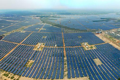 A massive Adani solar-energy project. Credit GreentechMedia