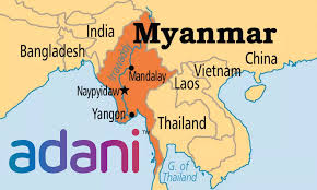 Adani identifies Myanmar as one of the countries in which it is active