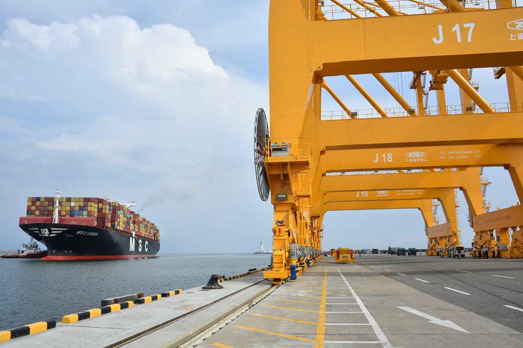 East Container Terminal, Columbo. Photo SLPA