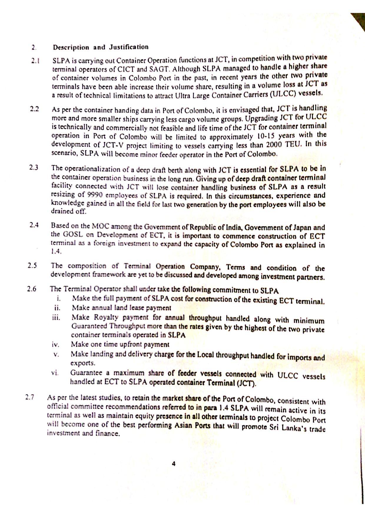 October 2020 Sri Lanka Cabinet Memo p.2-4