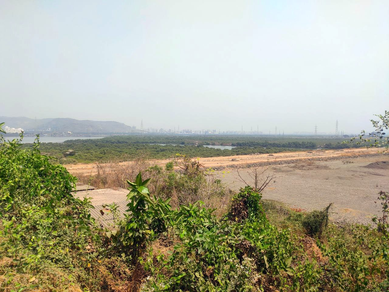 Wetlands and villages flattened and filled in. Photo Shiva Thorat