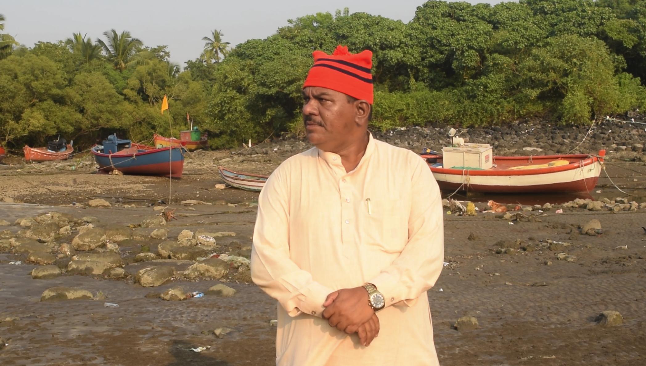 Rajaram Patil, a local resident critical of destruction of mangroves. Photo Shiva Thorat