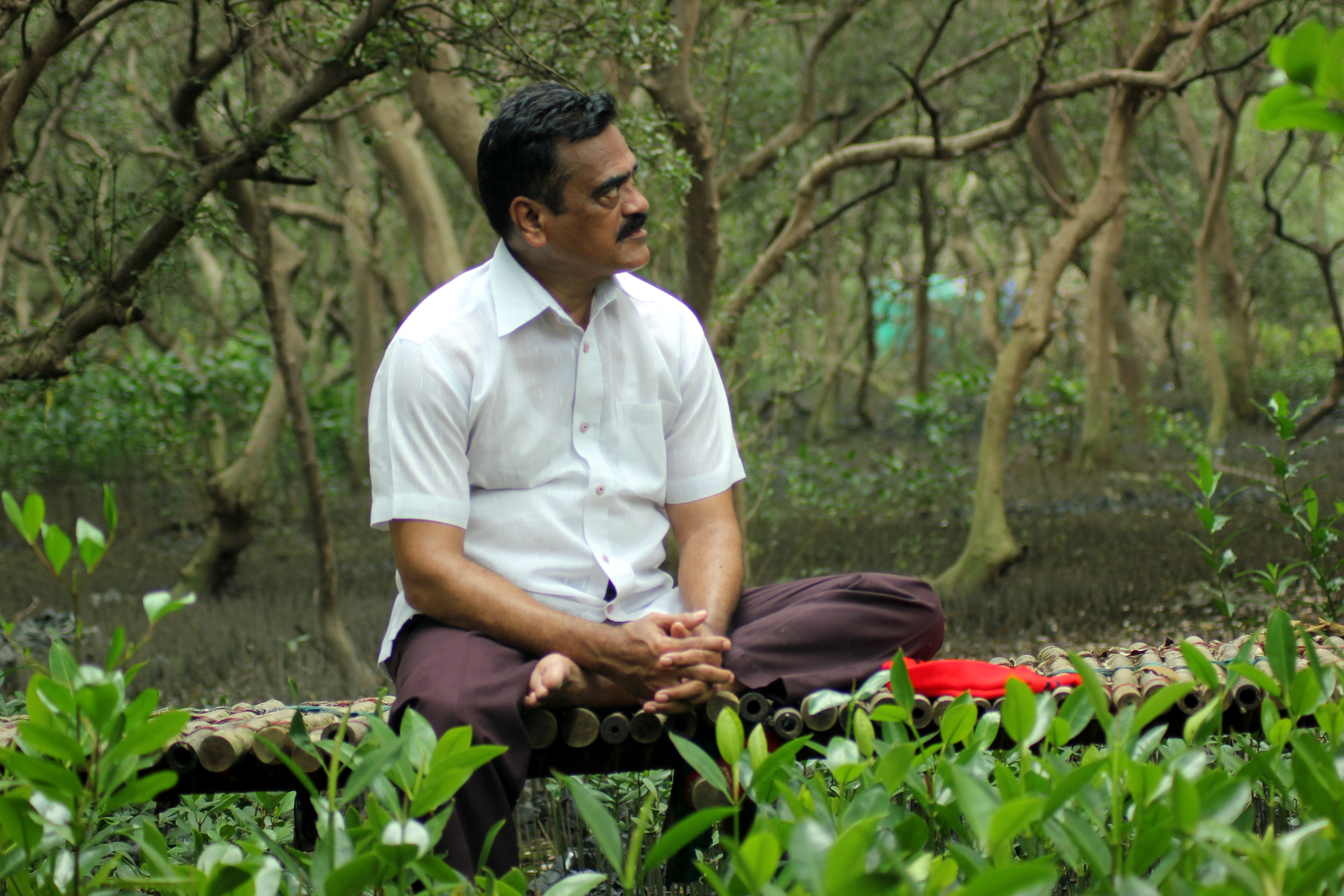 Nandkumar Pawar, a resident and conservationist critical of the ecological destruction. Photo Shiva Thorat
