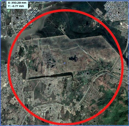 Aerial image of the area after the airport development. Courtesy Google
