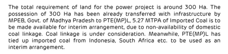 Adani repeats the excuse of 'lack of coal linkage' for failure to start work on the Pench project (report to ministry, late 2019)