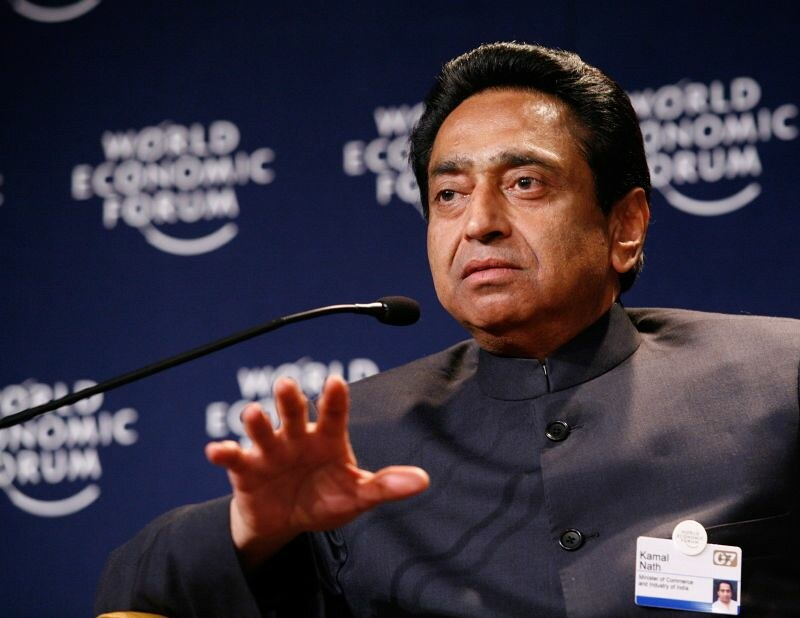 Chief Minister Kamal Nath at the Davos economic forum in January 2019, where it is reported he met Gautam Adani. Courtesy Flickr