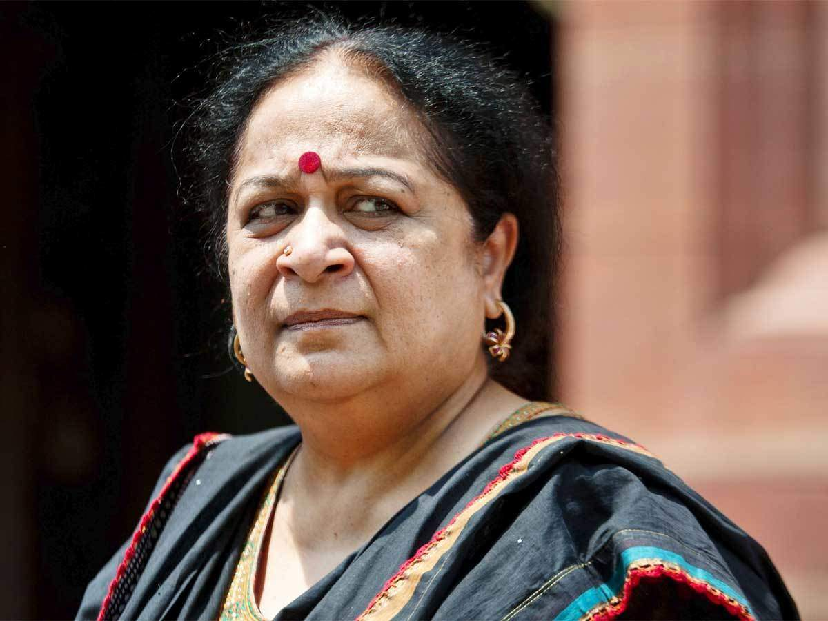 Minister for Environment and Forests, Jayanthi Natarajan, at the time of environmental approval for Adani's Pench coal power project. Courtesy Economic Times