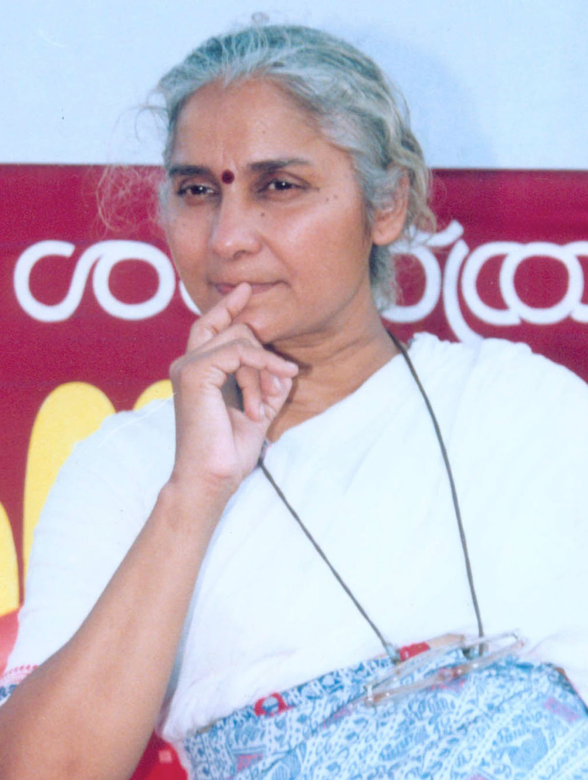 Medha Patkar, high-profile environmentalist and rights campaigner, joined the fray in 2012. Courtesy Britannica