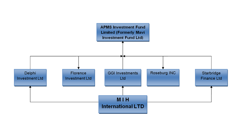 Structure and corporate links of Adani Group investor APMS