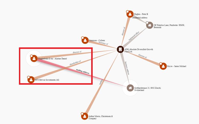 ICIJ Paradise Papers diagram showing links between AADGFL-related entities