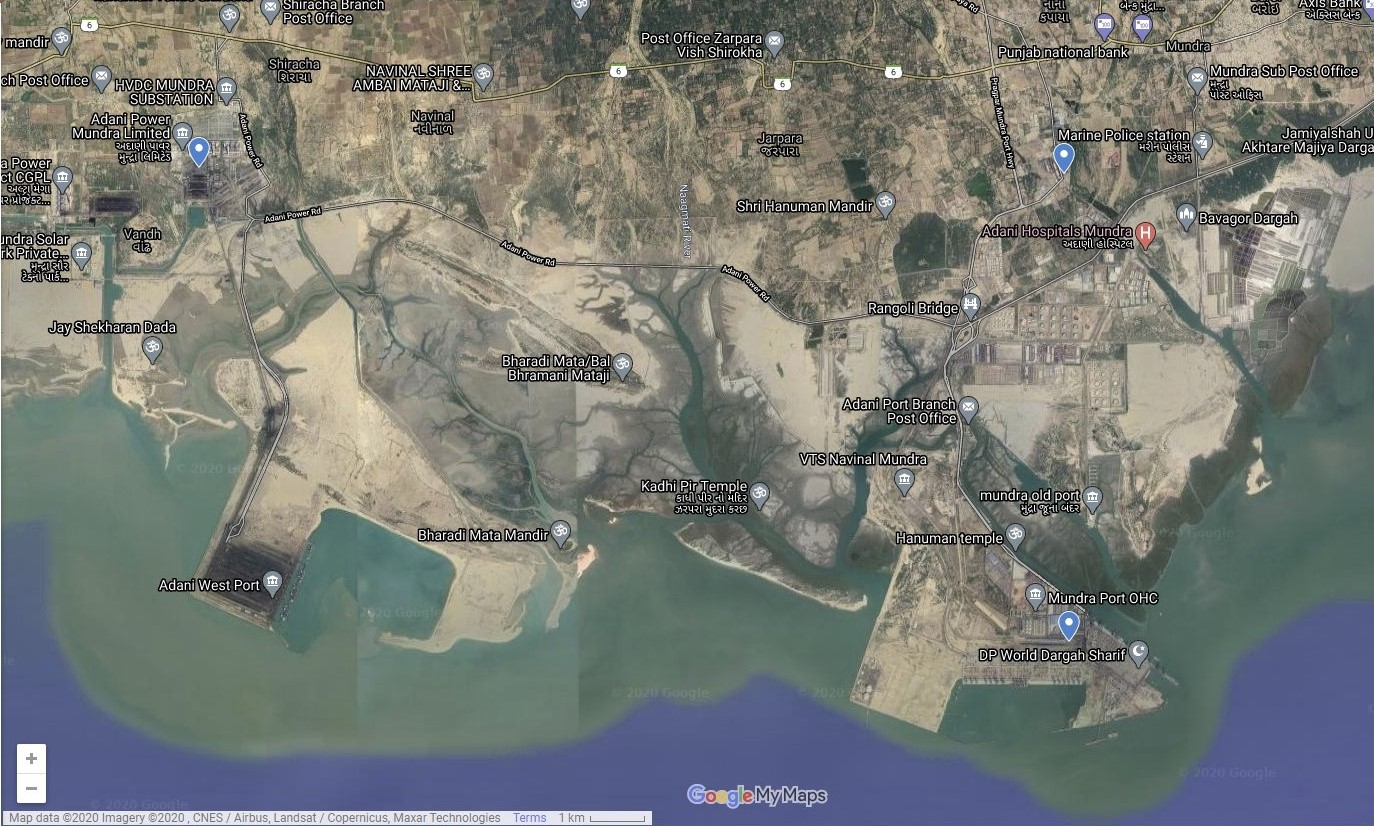 Adani Ports and Special Economic Zone, Mundra, in the highly biodiverse Gulf of Kutch, India