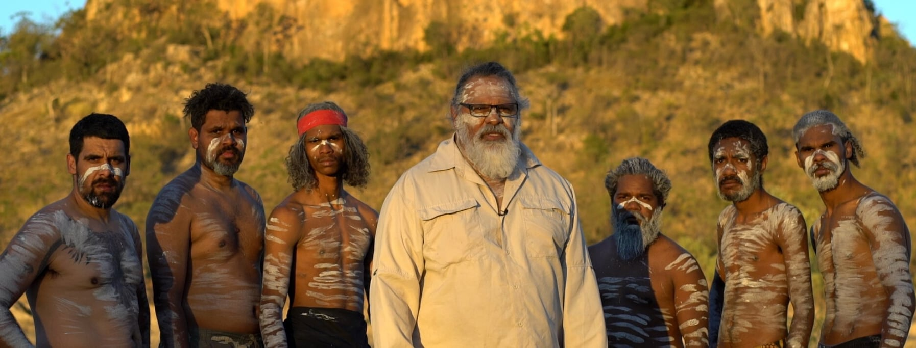 Cultural leader, Adrian Burragubba, and fellow Wangan and Jagaligou opponents of the Adani coal mine on their Country.
