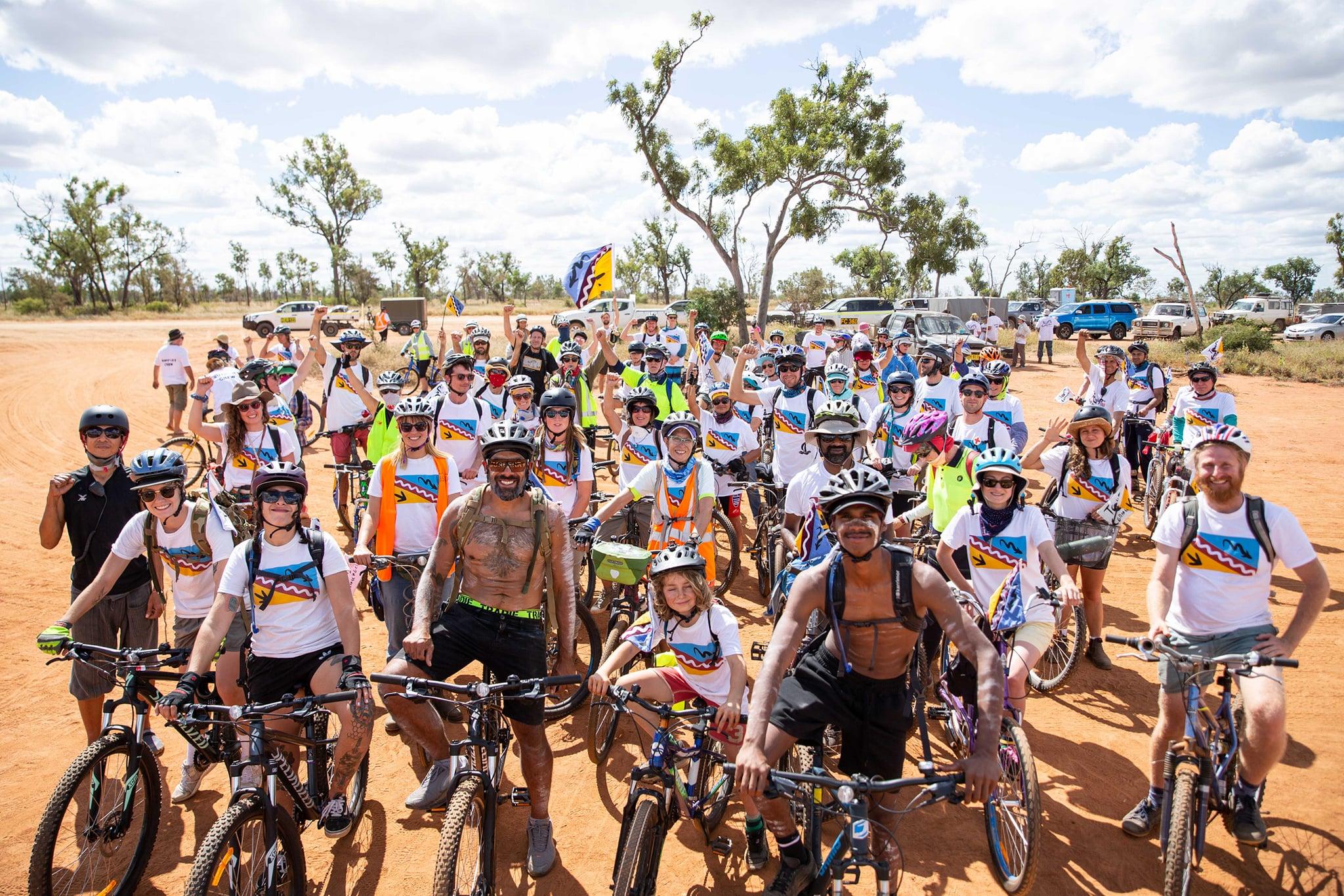 Launch of the 'Tour de Carmichael', a protest bike ride against Adani's coal project, May 2021
