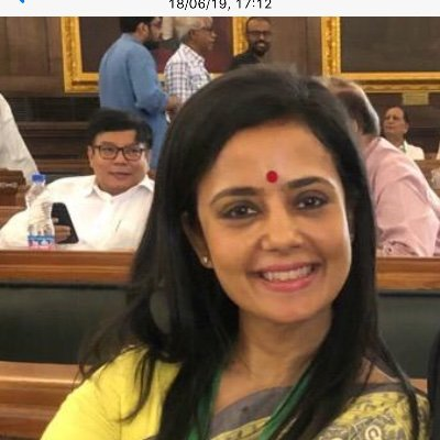 Opposition MP Mahua Moitra call for probe into Adani Group investors. Photo courtesy Twitter